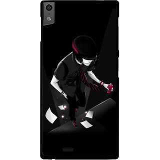 Snooky Printed Hep Boy Mobile Back Cover For Gionee Elife S5.5 - Black