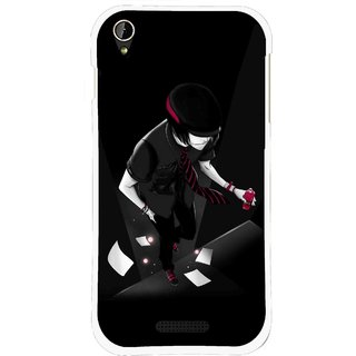 Snooky Printed Hep Boy Mobile Back Cover For Lava X1 Mini - Black