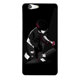 Snooky Printed Hep Boy Mobile Back Cover For Gionee Marathon M5 - Black