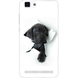 Snooky Printed Cute Dog Mobile Back Cover For Vivo X5 Max - White