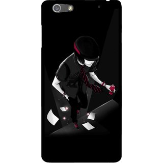Snooky Printed Hep Boy Mobile Back Cover For Oppo R1 - Black