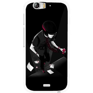 Snooky Printed Hep Boy Mobile Back Cover For Micromax Canvas Turbo A250 - Black