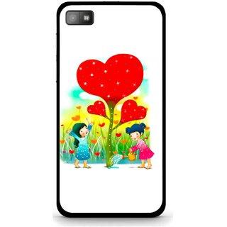 Snooky Printed Heart Plant Mobile Back Cover For Blackberry Z10 - White