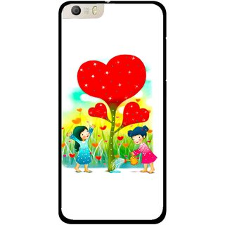 Snooky Printed Heart Plant Mobile Back Cover For Micromax Canvas Knight 2 E471 - White