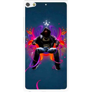 Snooky Printed Live In Attitude Mobile Back Cover For Gionee Elife S7 - Blue