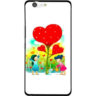 Snooky Printed Heart Plant Mobile Back Cover For Gionee Marathon M5 - White