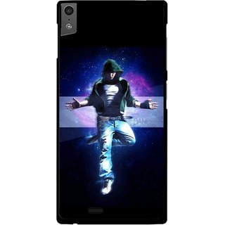 Snooky Printed Hug Me Mobile Back Cover For Gionee Elife S5.5 - Black