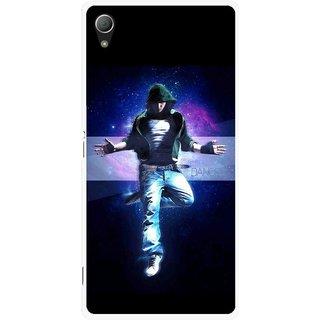 Snooky Printed Hug Me Mobile Back Cover For Sony Xperia Z3 - Black