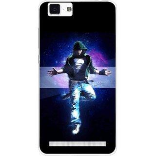 Snooky Printed Hug Me Mobile Back Cover For Vivo X5 Max - Black