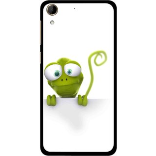 Snooky Printed Seeking Alien Mobile Back Cover For HTC Desire 728 - White