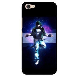 Snooky Printed Hug Me Mobile Back Cover For Vivo V5 Plus - Black