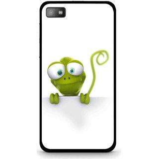 Snooky Printed Seeking Alien Mobile Back Cover For Blackberry Z10 - White