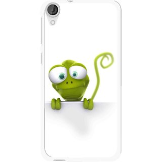 Snooky Printed Seeking Alien Mobile Back Cover For HTC Desire 820 - White