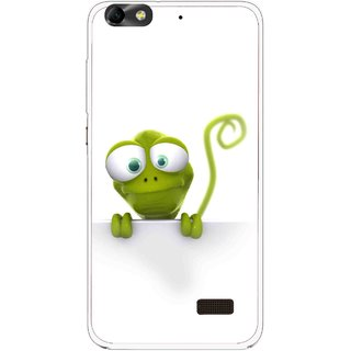 Snooky Printed Seeking Alien Mobile Back Cover For Huawei Honor 4C - White
