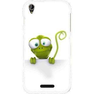 Snooky Printed Seeking Alien Mobile Back Cover For Lava X1 Mini - White