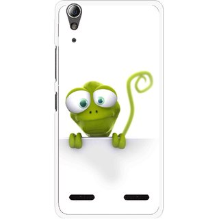 Snooky Printed Seeking Alien Mobile Back Cover For Lenovo A6000 - White