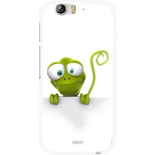 Snooky Printed Seeking Alien Mobile Back Cover For Micromax Canvas Turbo A250 - White