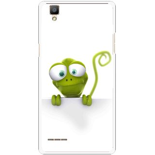 Snooky Printed Seeking Alien Mobile Back Cover For Oppo F1 - White