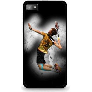 Snooky Printed Badminton Mania Mobile Back Cover For Blackberry Z10 - Black