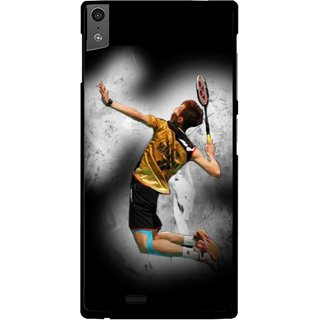 Snooky Printed Badminton Mania Mobile Back Cover For Gionee Elife S5.5 - Black