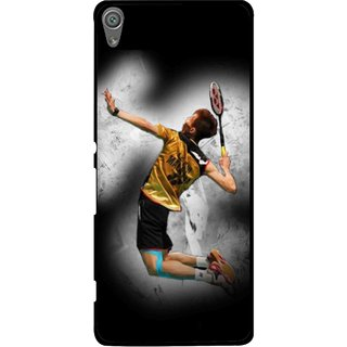 Snooky Printed Badminton Mania Mobile Back Cover For Sony Xperia XA1 - Black