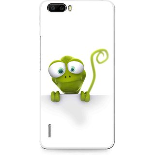 Snooky Printed Seeking Alien Mobile Back Cover For Huawei Honor 6 Plus - White