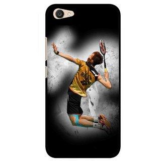 Snooky Printed Badminton Mania Mobile Back Cover For Vivo V5 Plus - Black