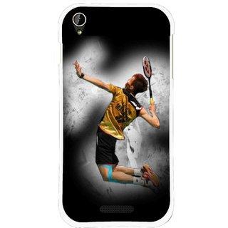 Snooky Printed Badminton Mania Mobile Back Cover For Lava X1 Mini - Black