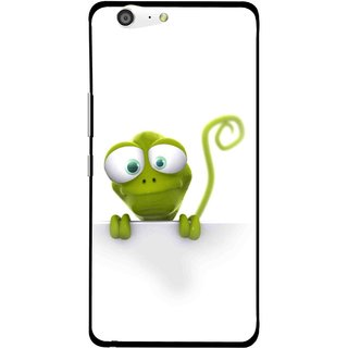 Snooky Printed Seeking Alien Mobile Back Cover For Gionee Marathon M5 - White