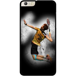Snooky Printed Badminton Mania Mobile Back Cover For Micromax Canvas Knight 2 E471 - Black