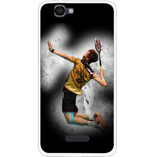 Snooky Printed Badminton Mania Mobile Back Cover For Micromax Canvas 2 A120 - Black