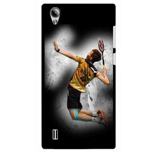 Snooky Printed Badminton Mania Mobile Back Cover For Vivo Y15 - Black
