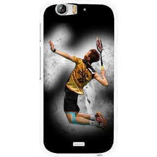 Snooky Printed Badminton Mania Mobile Back Cover For Micromax Canvas Turbo A250 - Black