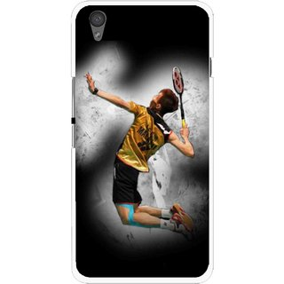 Snooky Printed Badminton Mania Mobile Back Cover For One Plus X - Black