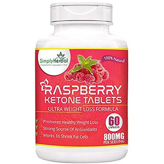 Simply Herbal Raspberry Ketones, Garcinia Cambogia, Green Tea Extract 800mg 60capsules