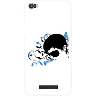 Snooky Printed Stylo Man Mobile Back Cover For Lava Iris X8 - Multi