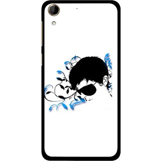 Snooky Printed Stylo Man Mobile Back Cover For HTC Desire 728 - Multi