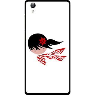 Snooky Printed Caty Girl Mobile Back Cover For Vivo Y51L - Multi