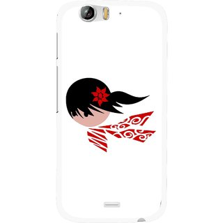 Snooky Printed Caty Girl Mobile Back Cover For Micromax Canvas Turbo A250 - Multi