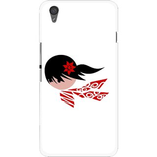Snooky Printed Caty Girl Mobile Back Cover For One Plus X - Multi
