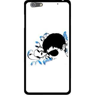 Snooky Printed Stylo Man Mobile Back Cover For Oppo R1 - Multi