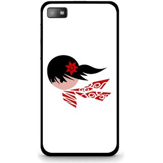 Snooky Printed Caty Girl Mobile Back Cover For Blackberry Z10 - Multi