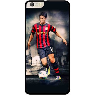 Snooky Printed Football Mania Mobile Back Cover For Micromax Canvas Knight 2 E471 - Multi