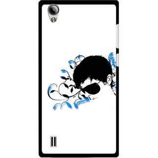 Snooky Printed Stylo Man Mobile Back Cover For Vivo Y15 - Multi