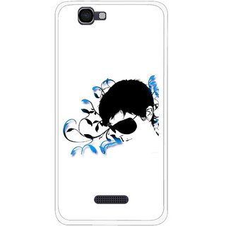 Snooky Printed Stylo Man Mobile Back Cover For Micromax Canvas 2 A120 - Multi