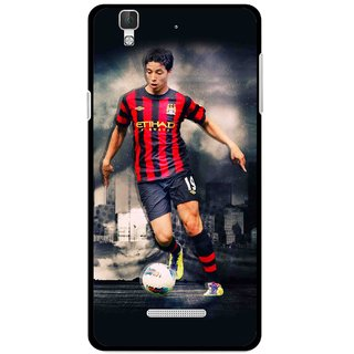 Snooky Printed Football Mania Mobile Back Cover For Micromax Yu Yureka Plus - Multi