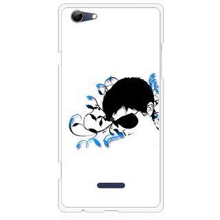 Snooky Printed Stylo Man Mobile Back Cover For Micromax Canvas Selfie 3 Q348 - Multi
