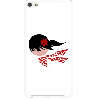 Snooky Printed Caty Girl Mobile Back Cover For Gionee Elife S7 - Multi