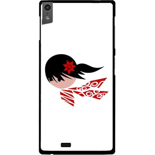Snooky Printed Caty Girl Mobile Back Cover For Gionee Elife S5.5 - Multi