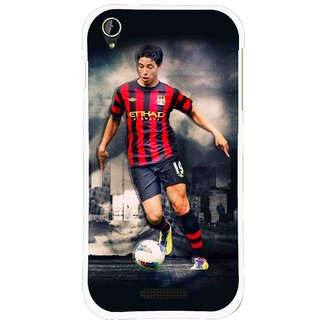 Snooky Printed Football Mania Mobile Back Cover For Lava X1 Mini - Multi